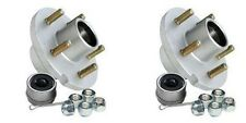 "2x Boat Trailer Galvanized Hub Kit 5 Bolt 1-1/16"" x 1-3/8"" Bearing 3,500"