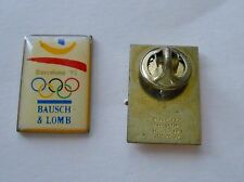 Vintage 1992 Barcelona Summer Olympics Bausch & Lomb Official Supplier Pin