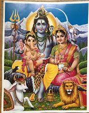 34 BILD SHIVA LAKSHMI Prägedruck INDIEN Poster Kunststoff Vorlage Tattoo edel