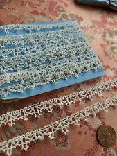 Tiny Antique Torchon Lace Trim Picoted French vintage 3.5 Yards edging