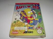 The Simpsons Bart Vs The World Nintendo NES Boxed PAL Preloved *Complete* #2