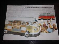 Prospekt Sales Brochure VW Samba- Bus Bully Transporter Bulli Volkswagen Camping