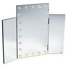 Abbellire Tri Fold Specchio con luci a LED