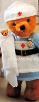 Knitting Pattern TEDDY BEAR NURSES UNIFORM DRESS Teddies Dolls Dolly Clothes DK