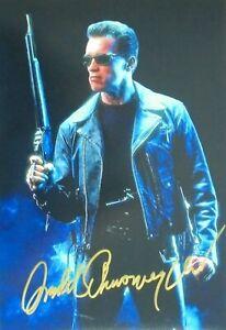"Arnold Schwarzenegger orig. Autogramm  "" TERMINATOR 2 "" Motiv 20x30"