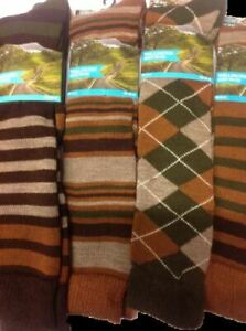 1-3 pairs mens/womens patterned wellington boot socks.