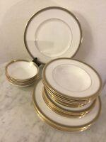 "Royal Doulton English Bone China ""Clarendon"" 28 Pcs Dinnerware Set. Discontinued"
