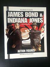 James Bond and Indiana Jones Action figures Fleurier figurines et jouets NEUF