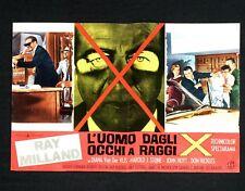 L'UOMO DAGLI OCCHI A RAGGI X fotobusta poster Man with the X-ray Eyes Sci-fi I14