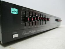 ADC SOUND SHAPER STEREO FREQUENCY EQUALIZER MODEL SS-100SL SPECTRUM ANALYZER