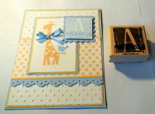 """STAMPIN UP Letter """"A"""" Block stamp~use with wild about you su set"""