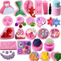 3D Silicone Cake Decoration Mold Fondant Chocolate Sugarcraft Candy Mould Tools
