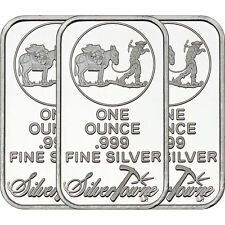 SilverTowne Logo 1oz .999 Fine Silver Bar LOT OF 3