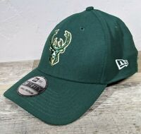 New Men's Milwaukee Bucks New Era 39THIRTY Flex Fit Hat NWT Small / Medium NBA