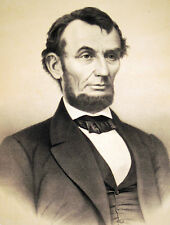 ABRAHAM LINCOLN - Portrait sehr grosse Lithographie um 1865 Original!