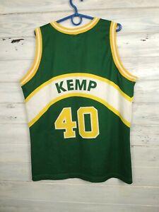Shawn Kemp Seattle SuperSonics Jersey Basketball MEDIUM Shirt Trikot Champion