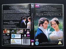 Colin Firth PRIDE & PREJUDICE BBC TV series 2xDVDs 1996 Jane Austen Spec Edition