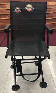 Rhino Outdoors folding blind chair 360°swivel folding with armrest