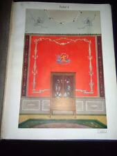 Paul Grohmann Ceilings & Walls rare 1920s art nouveau art deco interior designs