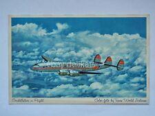 AEREO AIRPLANE TWA Constellation Airline old postcard vecchia cartolina