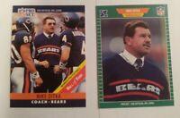 1989 Pro Set Football 1989 #53 & 1990 #59 2 card Lot of Mike Ditka HOF Bears