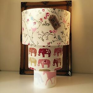 Custom Made Lampshade made with customer's own fabric Made to Order FREE UK Post