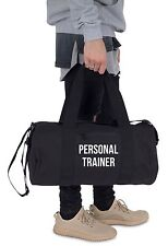 Personal Trainer Barrel Gym Bag Duffel Fitness Slogan Yoga Weightlifting MMA PT