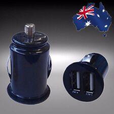 1pc Twin 2 Port USB 12V Car Cigar Socket Lighter Charger Adaptor Black EGRIF0101
