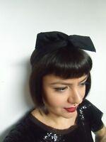 Bandeau foulard cheveux rigide modulable cordon maléable tissu noir