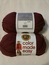 LION BRAND COLOR MADE EASY YARN, BULKY-5, IN POMEGRANATE, 2 Skeins