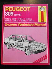PEUGEOT 309 (Petrol) 1.1L-1.9L GTI 86-93 HAYNES OWNERS WORKSHOP MANUAL 1266