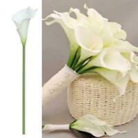 1Pcs Pure White Artificial Calla Lily Flower Wedding Bouquet Decor Home DIY Y4R7