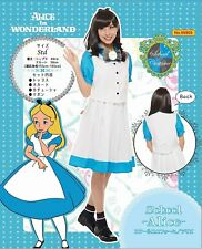 Alice in wonderland School Uniform DISNEY PRINCESS COSTUMES Halloween Licensed