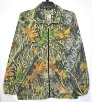 Jerzees Outdoor Fleece Camoflage Jacket Mens Size XL Full Zip Hunting Camping