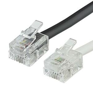 Nambo Telefonmodularkabel RJ11 - RJ11 (6P4C), Flachbandkabel  0,25m - 20,00m