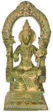 "Master Statue Rajarajeshwari Tirupati Balaji 10""Green Brass Jai God Hindu 2.7 KG"