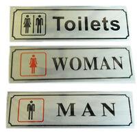 Toilet Door Signs Ladies Gents Sign Plaques Adhesive Bathroom WC Walls Stickers