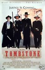 Tombstone White 23x35 Movie Poster Wyatt Earp