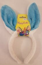 Bunny Rabbit Ears Headband Party Kids Fluffy Dress Up Costume Blue and White