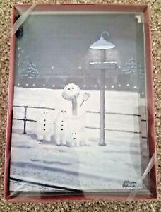 Vintage Charles Addams Christmas Cards Snow Family New Unused Box Of 12