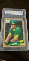 1987 Topps Jose Canseco #620 WCG 10 GEM MT