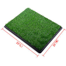 "Puppy Pet Potty Training Pee 25""x20""  Indoor Toilet Dog Grass Pad Mat Turf"