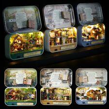 DIY Dollhouse Miniature 3D Doll House Kit Box Theatre Gift LED Light Toys