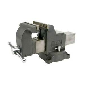 Wilton WS6 Work Shop Bench Vise w/ 6in Jaw, 3.5in Throat and Steel Swivel Base