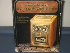 New ListingOld Tyme Antique Reproduction Post Office Box Coin Bank Box Instructions