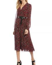 MICHAEL Michael Kors Multi Woodland Print Georgette Dress XL New
