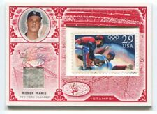 2005 LEAF CENTURY STAMP OLYMPIC RELIC #23 ROGER MARIS YANKEES 9/9