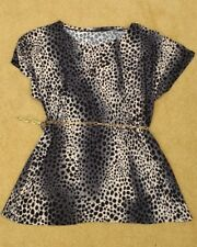 BNWOT Ladies Animal Print Top/Tunic & chain belt -See description for sizing