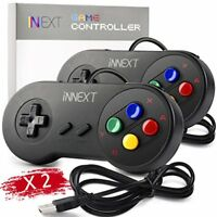 2 Pack iNNEXT SNES Retro USB Super Famicom Controller Gamepad Joystick PC Joypad