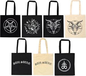 SALE! Baphomet Satanic Tote Bag Pentagram Church of Satan Goat Demonic Gothic